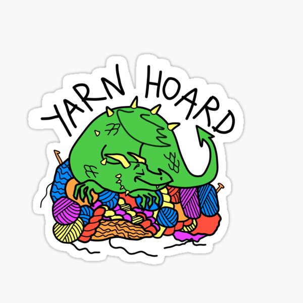 Dragon Yarn Hoard Sticker