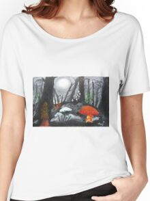 Moonlit Mushrooms Women's Relaxed Fit T-Shirt