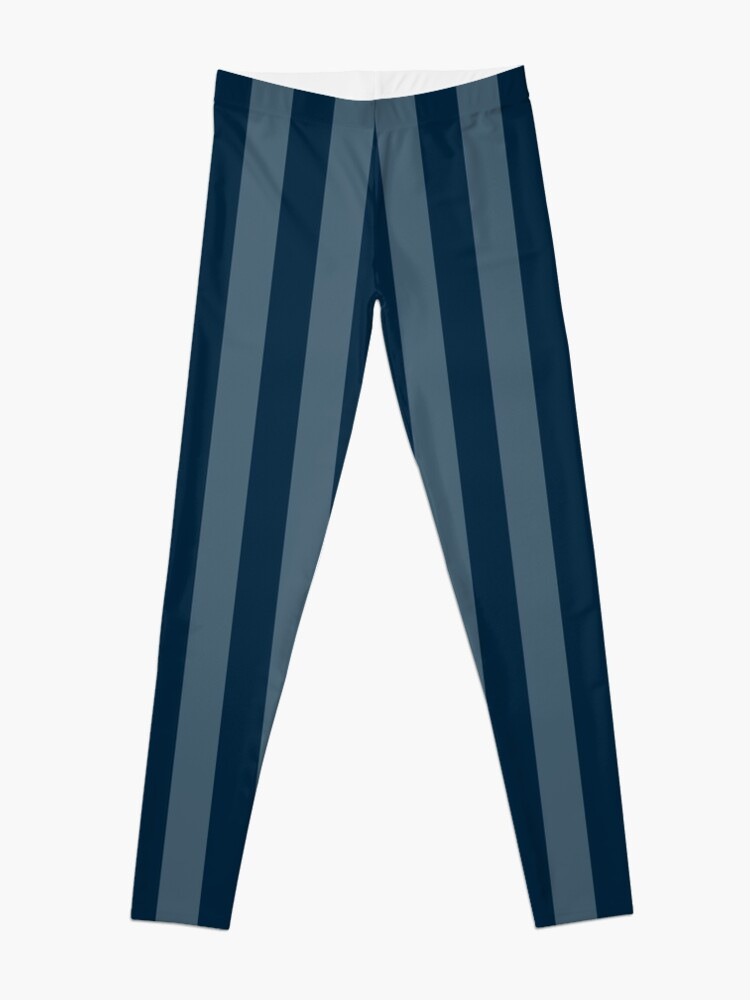 Alternate view of Large Faded Two Tone Christmas Blue Cabana Tent Stripe Leggings