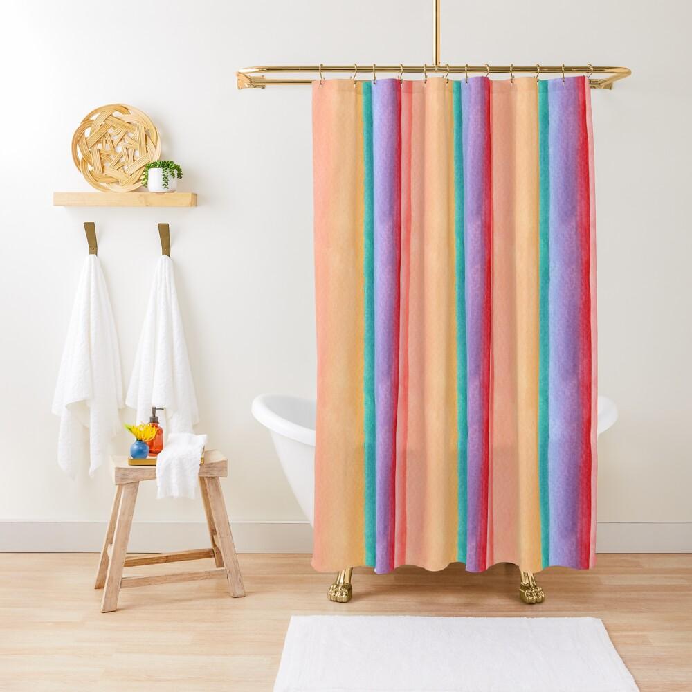 Rainbow stripe design Shower Curtain