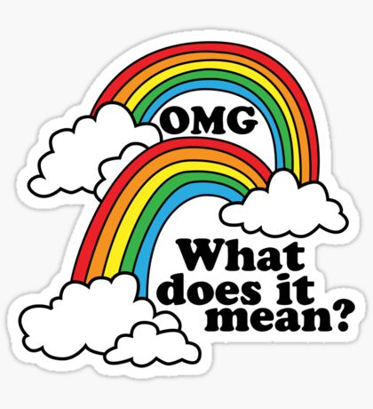 Double Rainbow - OMG Sticker