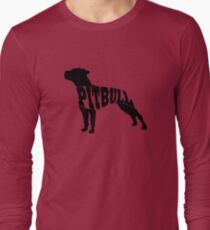 Pitbull black Long Sleeve T-Shirt