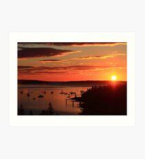 Autumn Sunrise over Mount Desert Island, Maine Art Print