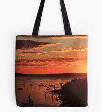 Autumn Sunrise over Mount Desert Island, Maine Tote Bag