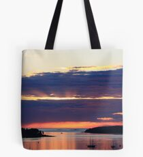 Late Summer Sunrise over Mount Desert Island, Maine Tote Bag