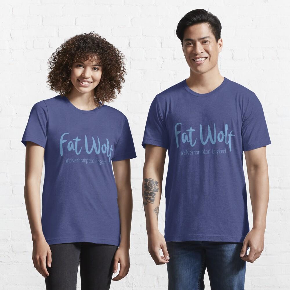 Fat Wolf Logo (Blue) Essential T-Shirt