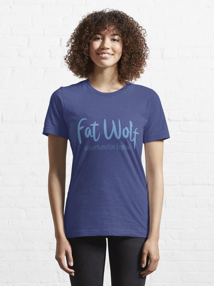 Alternate view of Fat Wolf Logo (Blue) Essential T-Shirt
