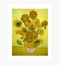 Sunflowers - Vincent van Gogh (1888) Art Print