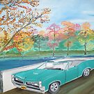 Painting for my cousin Bob of his GTO by towncrier