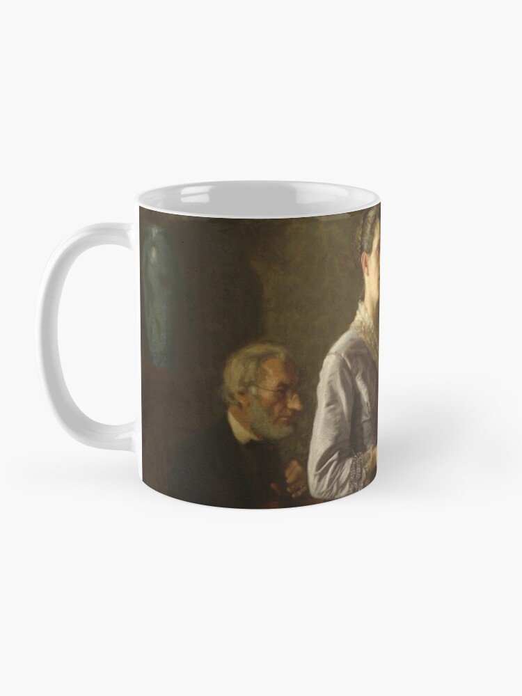Alternate view of Singing a Pathetic Song Oil Painting by Thomas Eakins Mug