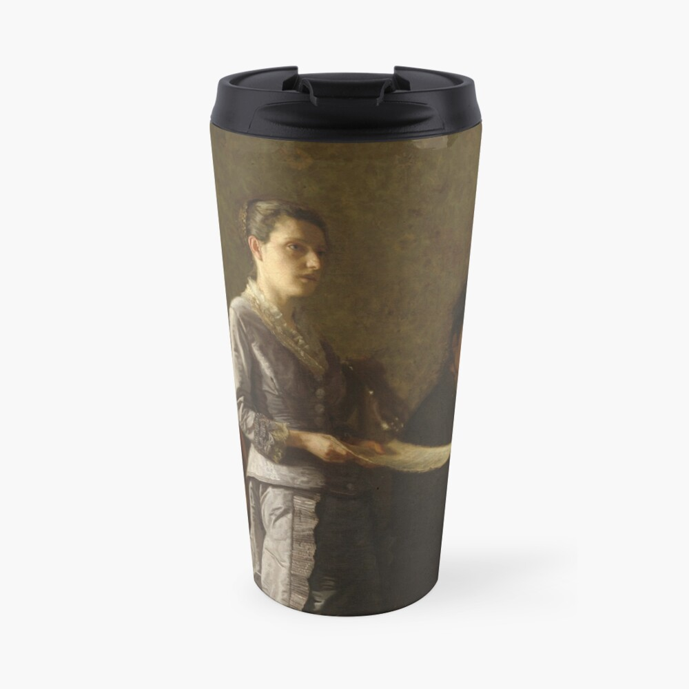 Singing a Pathetic Song Oil Painting by Thomas Eakins Travel Mug