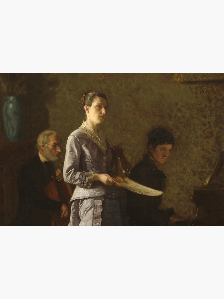 Singing a Pathetic Song Oil Painting by Thomas Eakins by podartist