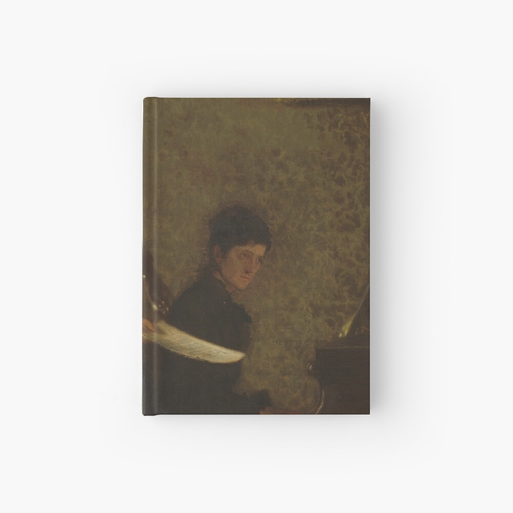 Singing a Pathetic Song Oil Painting by Thomas Eakins Hardcover Journal