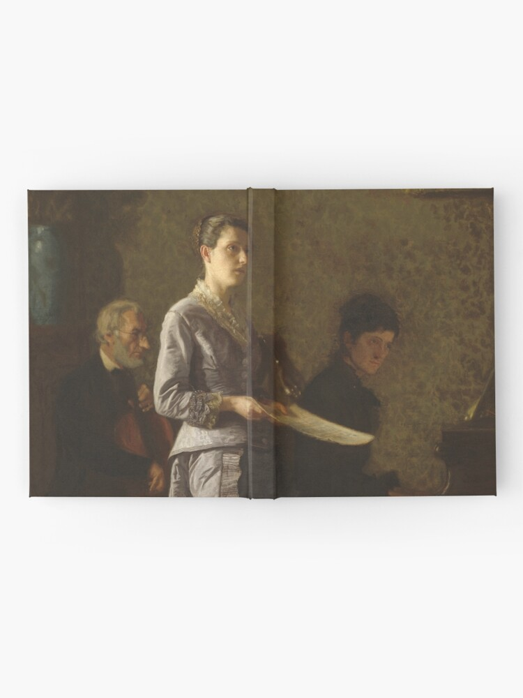 Alternate view of Singing a Pathetic Song Oil Painting by Thomas Eakins Hardcover Journal