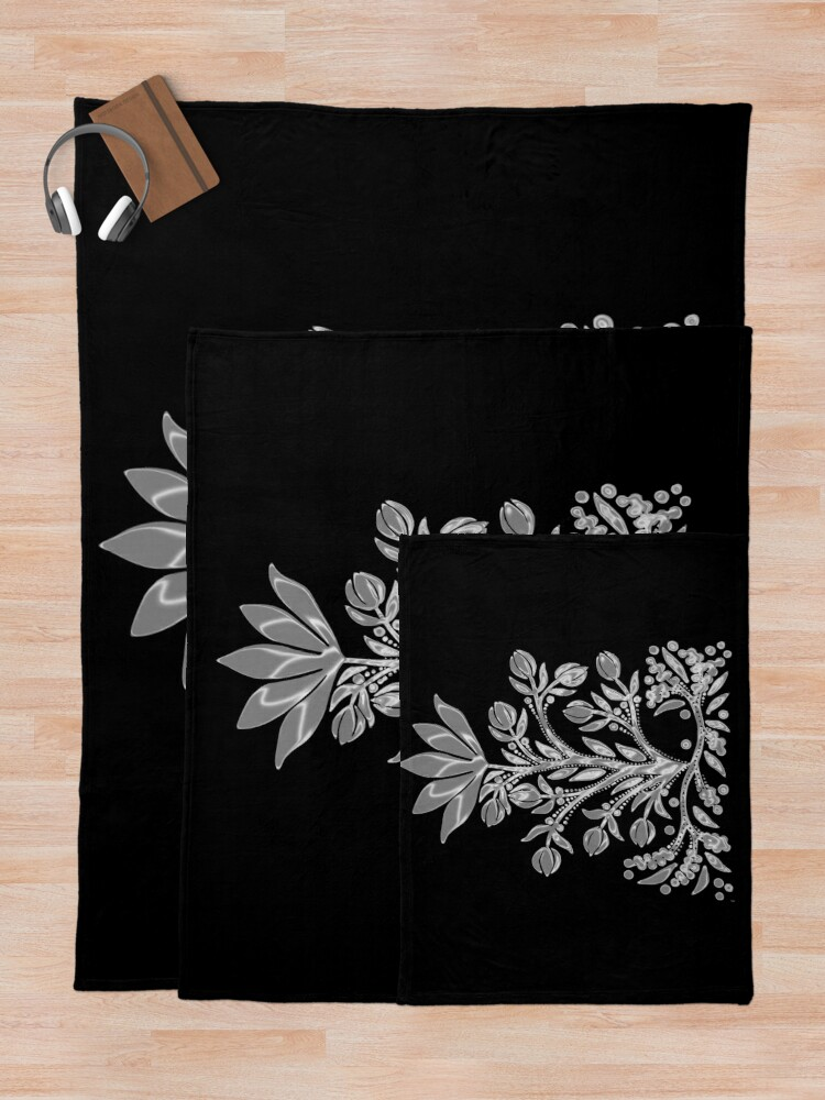 Alternate view of Aluminum Flower Throw Blanket
