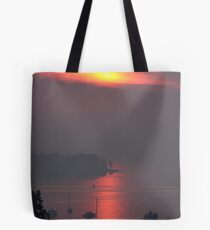 Amazing Sunrise over Mount Desert Island, Maine Tote Bag