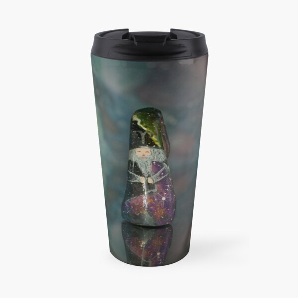 Cosmic zodiac Aries gnome Travel Mug
