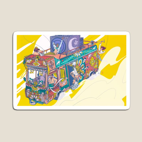 Catch The Bus Magnet
