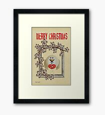 Merry Christmas .. a cute card Framed Print