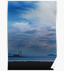 Blue horizon - Firth of Forth, Scotland Poster