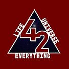 42 the answer to Life the universe and everything, hitchhikers guide to the galaxy by TeesMi