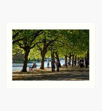 The Embankment, Bedford Art Print