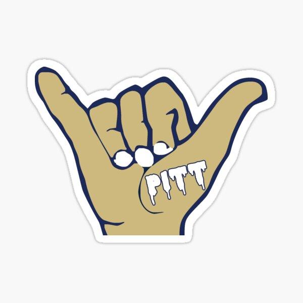 Pitt Hand Sticker
