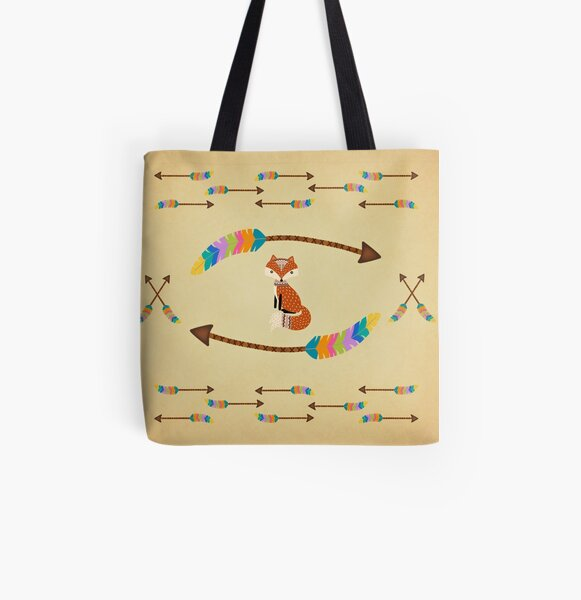 Fox - Arrows  All Over Print Tote Bag