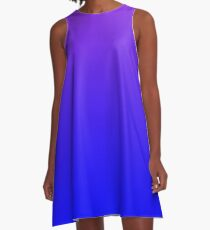 Modern Violet and Bright Blue Ombre A-Line Dress
