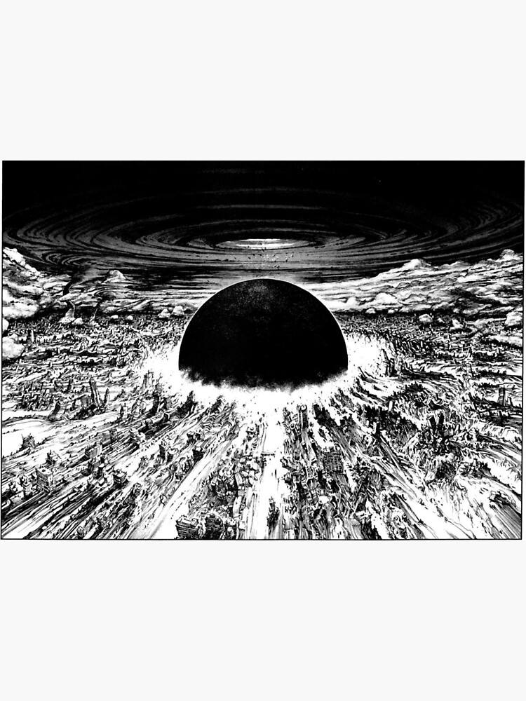 Akira Neo Tokyo Explosion Art Board Print By Mooimafish3 Redbubble