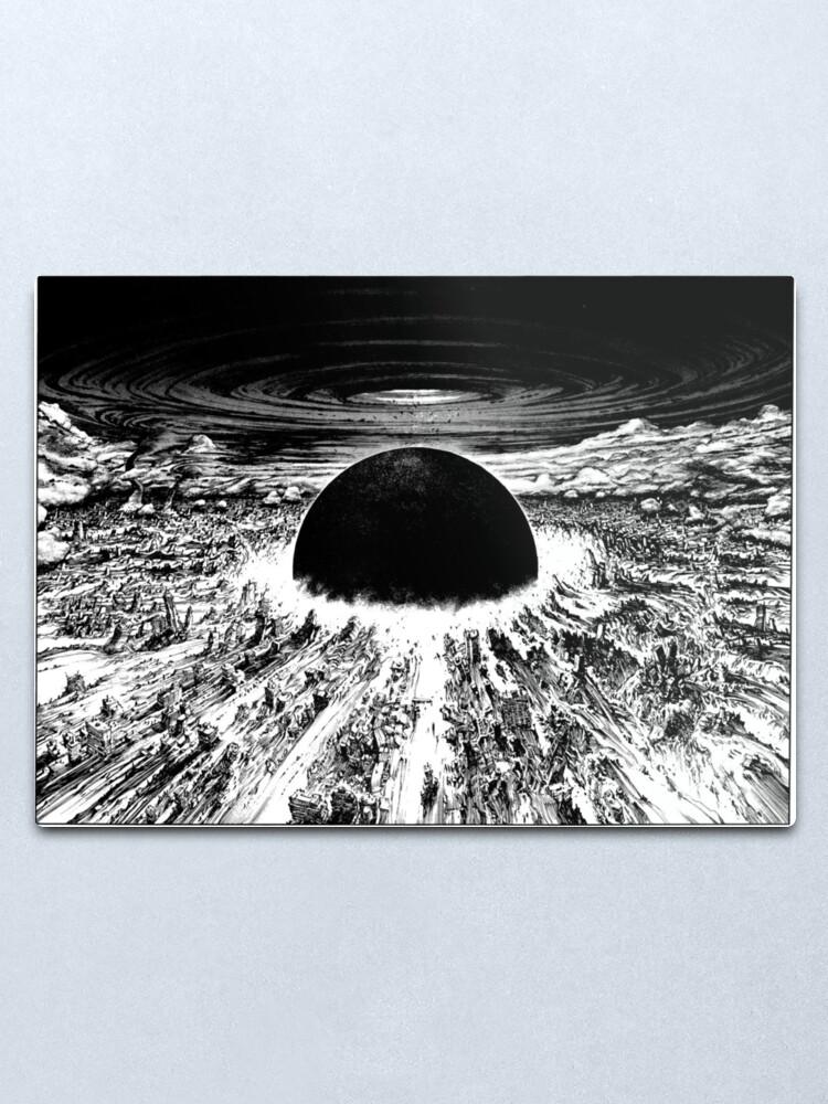Akira Neo Tokyo Explosion Metal Print By Mooimafish3 Redbubble