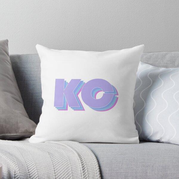 Purple Kansas City Throw Pillow