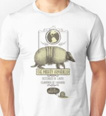 Funny animal mighty armadillo vintage super hero T-Shirt