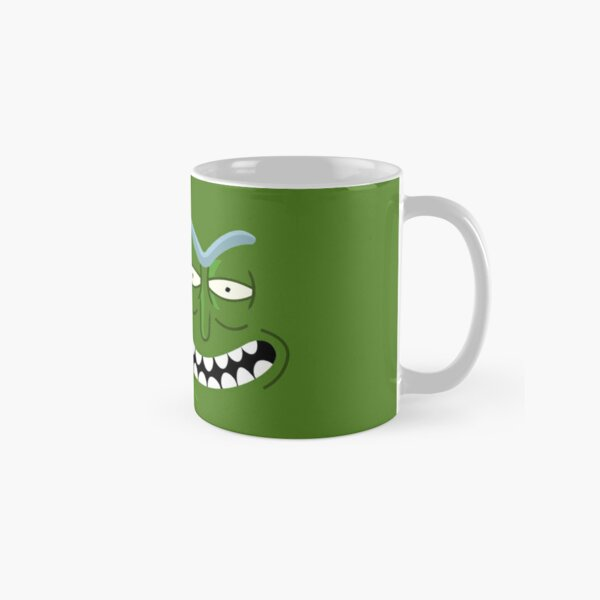 Rick and Morty - Pickle Rick Face Sticker Classic Mug