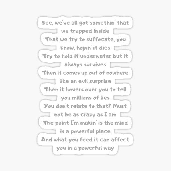 The Search lyrics - NF Sticker