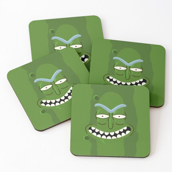 Rick and Morty - Pickle Rick Face Coasters (Set of 4)