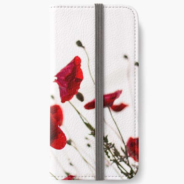 Red Italian Poppies iPhone Wallet