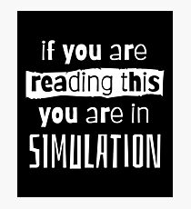 if you are reading this you are in simulation Photographic Print