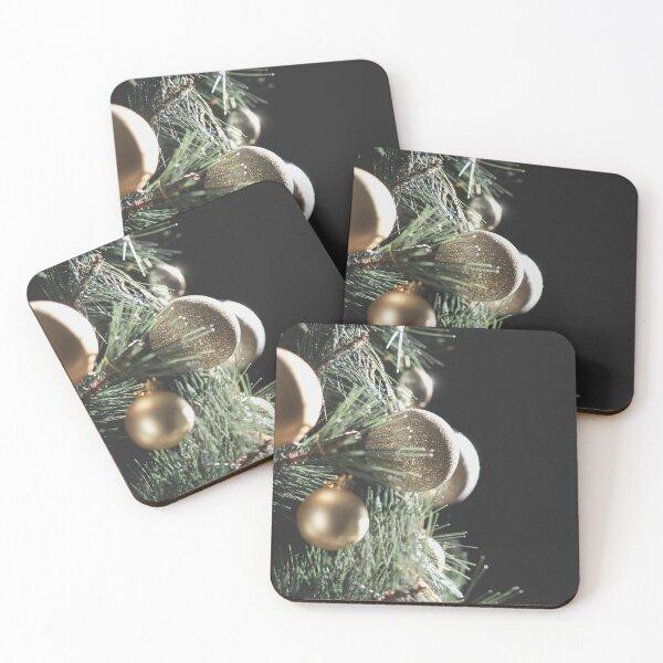 Christmas Tree Detail Coasters (Set of 4)