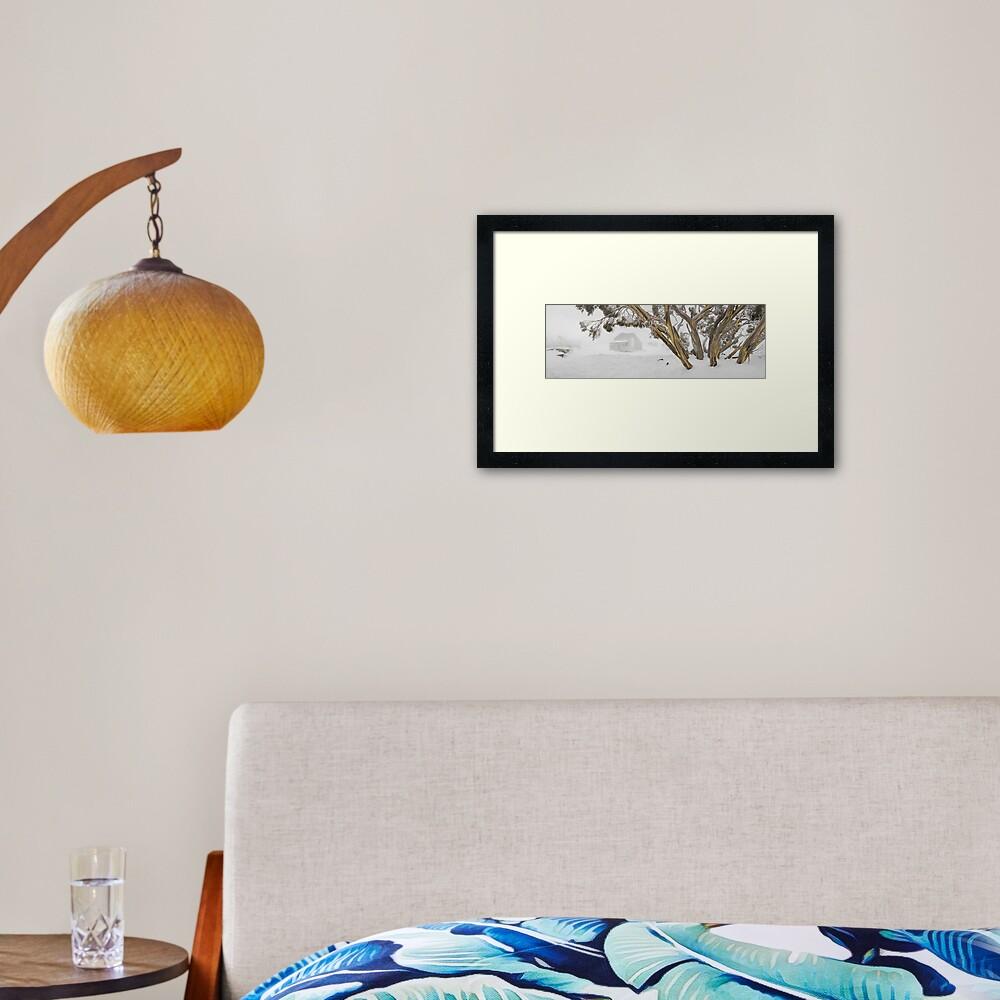 Blowhard Hut, Mt Hotham, Victoria, Australia Framed Art Print
