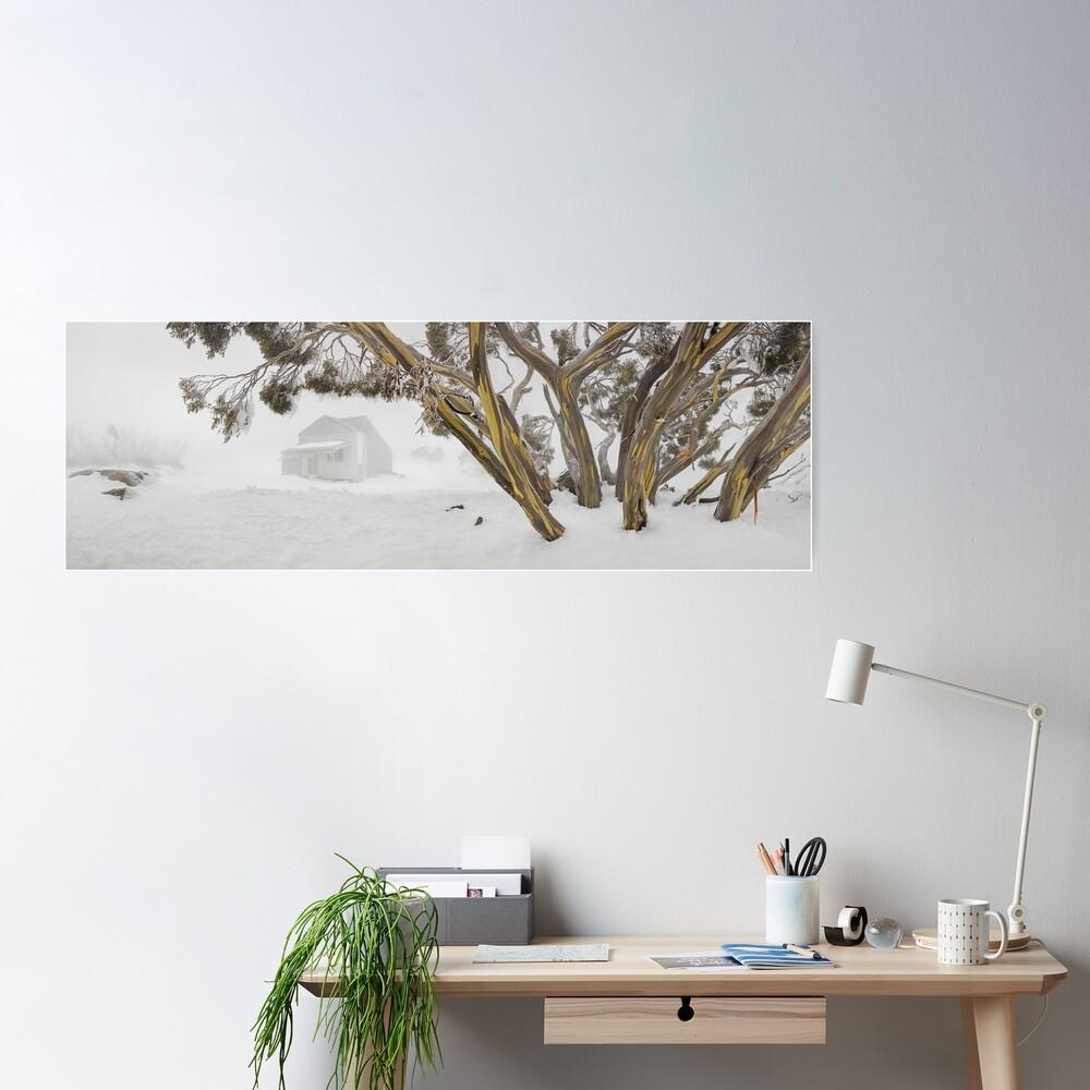 Blowhard Hut, Mt Hotham, Victoria, Australia Poster