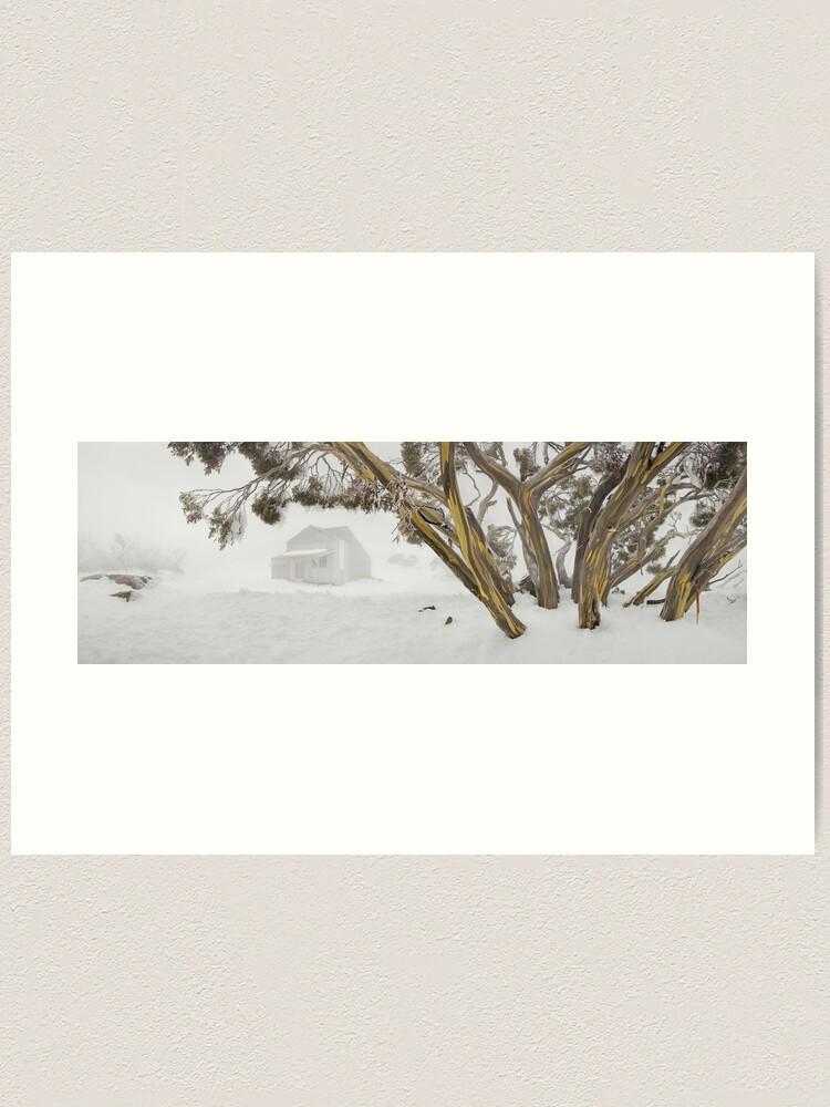 Alternate view of Blowhard Hut, Mt Hotham, Victoria, Australia Art Print