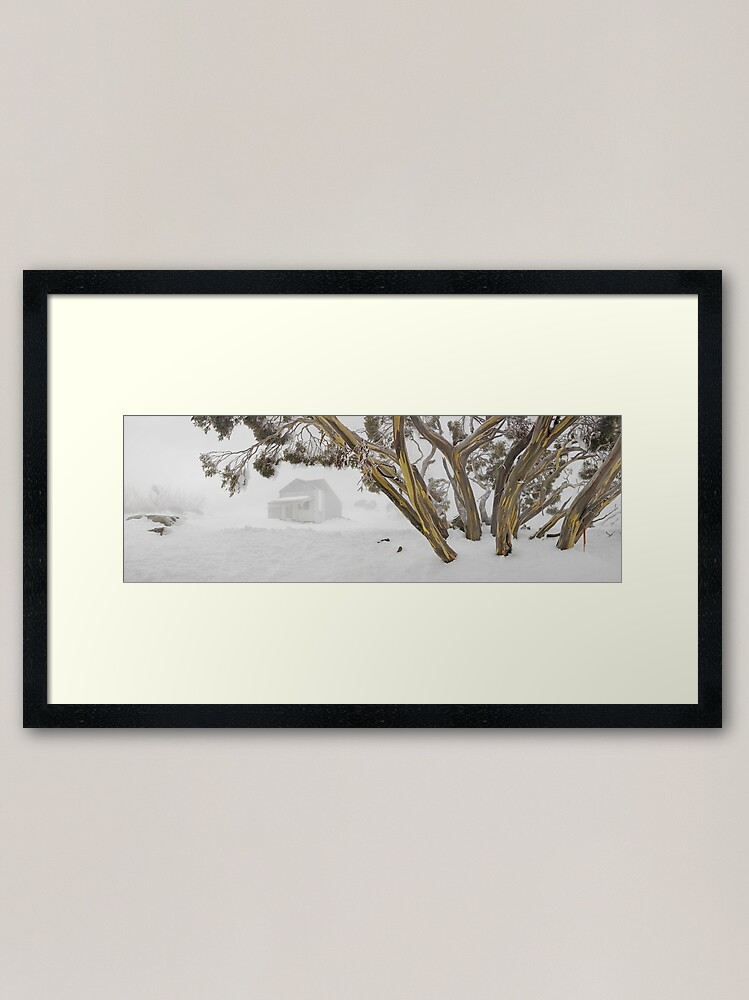 Alternate view of Blowhard Hut, Mt Hotham, Victoria, Australia Framed Art Print