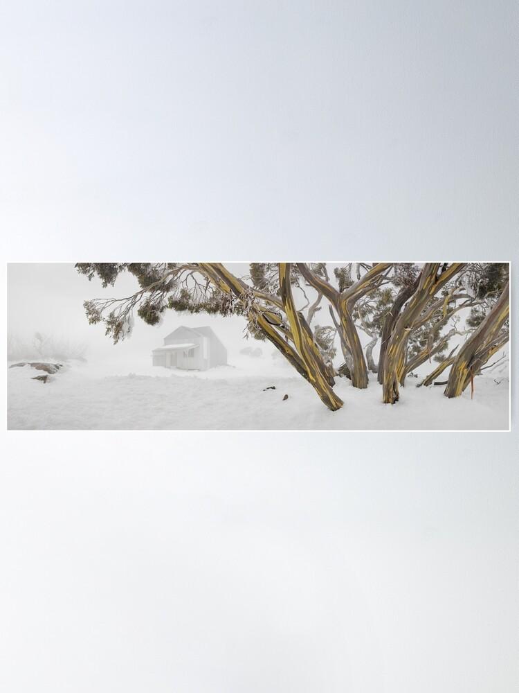 Alternate view of Blowhard Hut, Mt Hotham, Victoria, Australia Poster