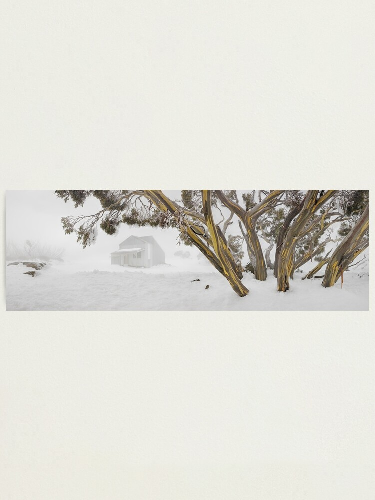 Alternate view of Blowhard Hut, Mt Hotham, Victoria, Australia Photographic Print