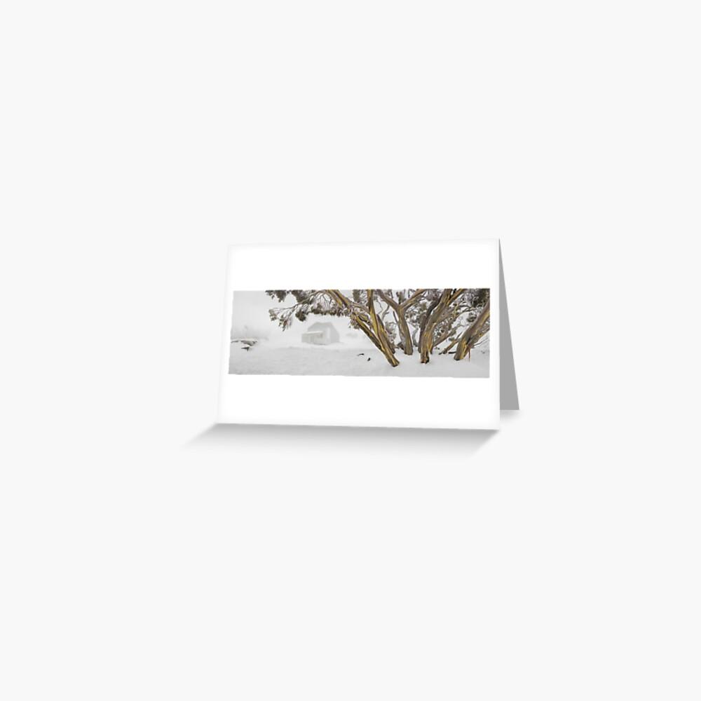 Blowhard Hut, Mt Hotham, Victoria, Australia Greeting Card