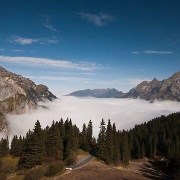 Sea of Cloud in Melchtal, Switzerland by mhowellsmead