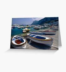 Small Boats in  Marina Grande Greeting Card