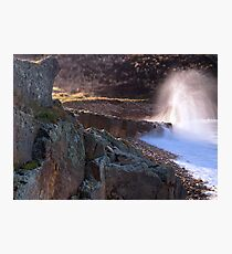 Breaker At Clashach Cove Photographic Print