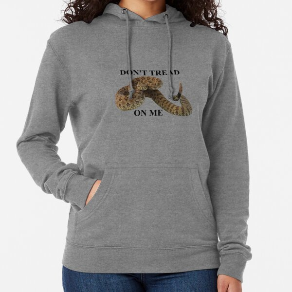 Dont Tread on Me (black lettering) Lightweight Hoodie